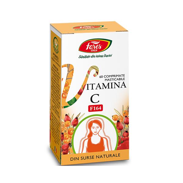 Vitamina C naturala Fares - 60 comprimate imagine produs 2021 Fares