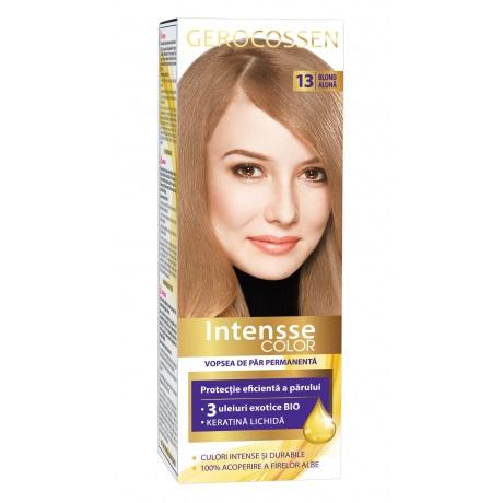 Vopsea de par permanenta (13 Blond Aluna) Intensse Color Gerocossen - 50 ml imagine produs 2021 Gerocossen