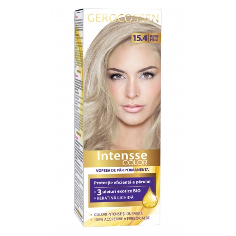 Vopsea de par permanenta (15.4 Blond Perla) Intensse Color Gerocossen - 50 ml imagine produs 2021 Gerocossen