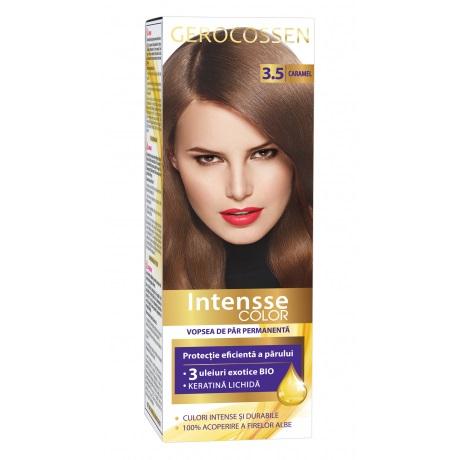 Vopsea de par permanenta (3.5 Caramel) Intensse Color Gerocossen - 50 ml imagine produs 2021 Gerocossen