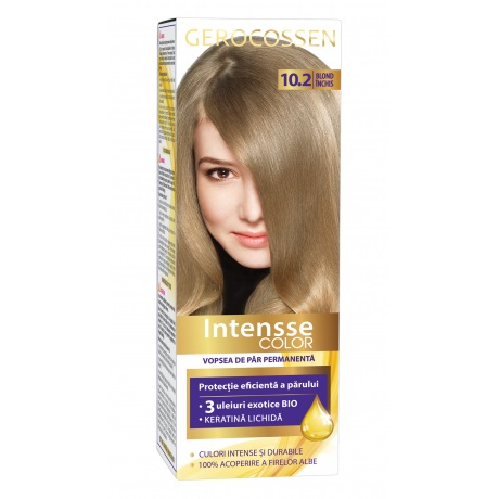 Vopsea de par permanenta (10.2 Blond Inchis) Intensse Color Gerocossen - 50 ml imagine produs 2021 Gerocossen