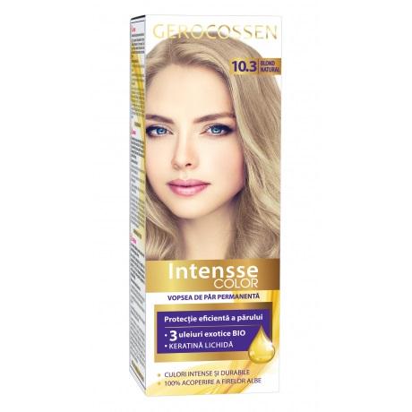 Vopsea de par permanenta (10.3 Blond Natural) Intensse Color Gerocossen - 50 ml imagine produs 2021 Gerocossen