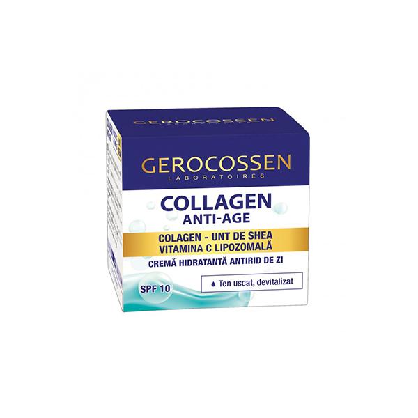 Crema hidratanta antirid de zi SPF 10 Collagen Anti-Age Gerocossen - 50 ml imagine produs 2021 Gerocossen
