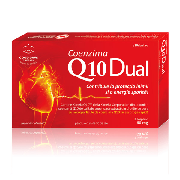 Coenzima Q10 Dual Good Days Therapy - 30 capsule imagine produs 2021 Good Days Therapy
