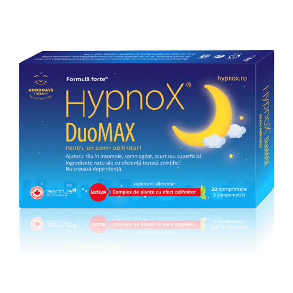 Hypnox DuoMax Good Days Therapy - 20 comprimate imagine produs 2021 Good Days Therapy