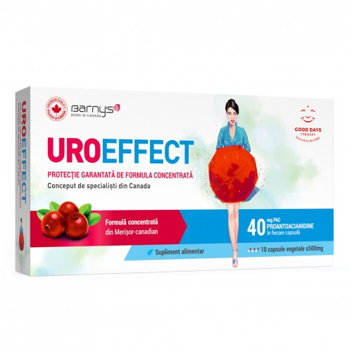 UROeffect Good Days Therapy - 10 capsule imagine produs 2021 Good Days Therapy