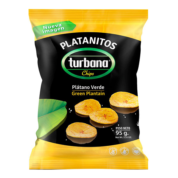 Chips de plantan verde Turbana - 95 g imagine produs 2021 Dried Fruits