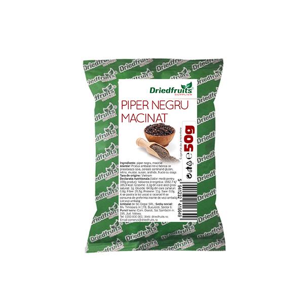 Piper negru macinat - 50 g imagine produs 2021 Dried Fruits