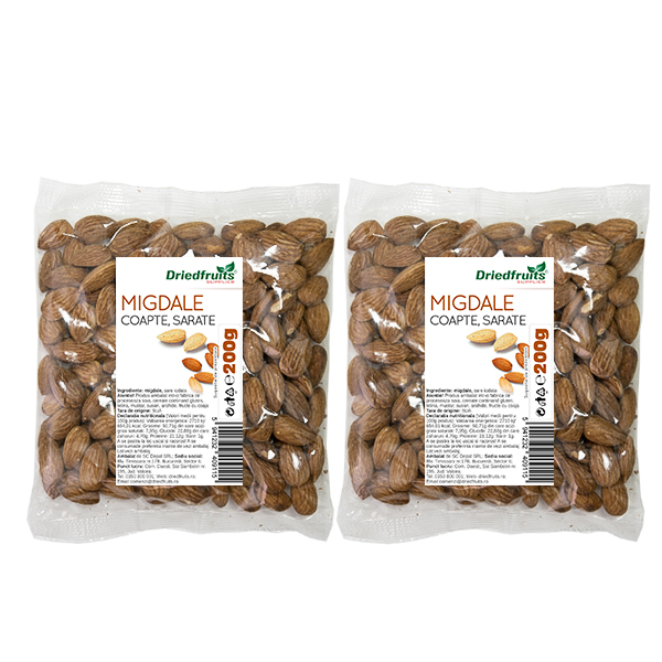 Migdale coapte si sarate Sunlit - 200 g x 2 Buc (PROMO - 15%) imagine produs 2021 Dried Fruits