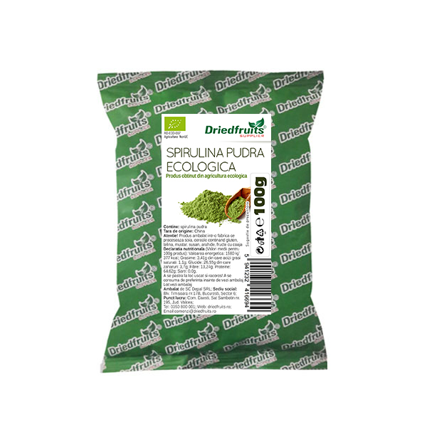 Spirulina Pudra BIO - 100 g imagine produs 2021 Dried Fruits