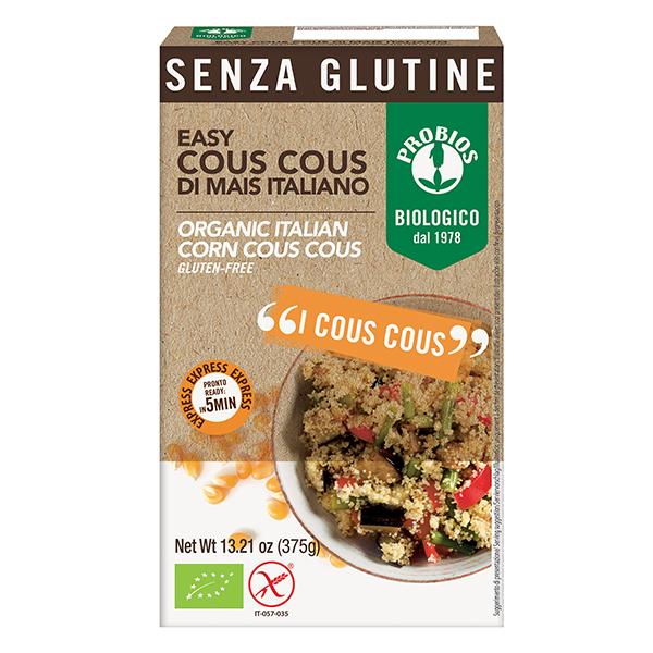 Cuscus din porumb (fara gluten) BIO Probios - 375 g imagine produs 2021 Probios