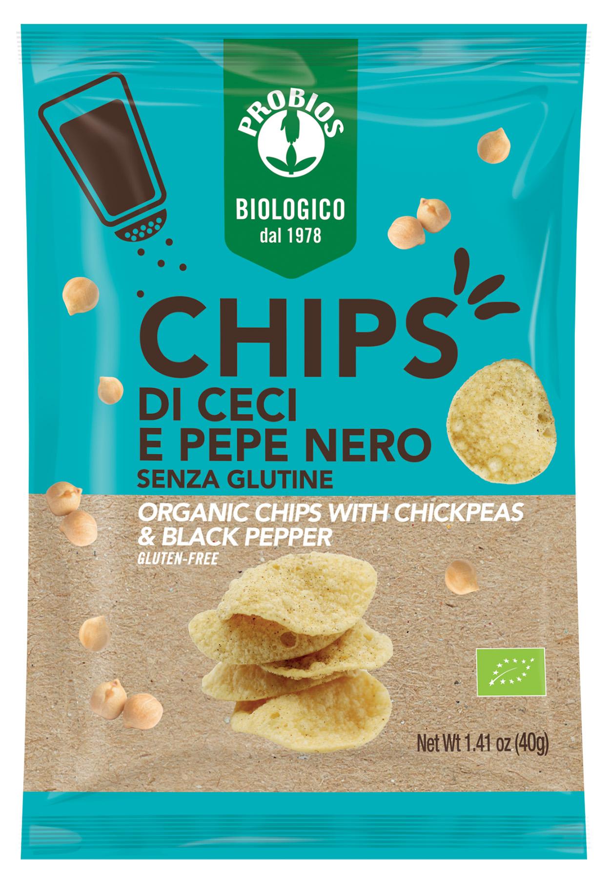 Chipsuri cu naut si piper negru (fara gluten) Probios BIO - 40 g imagine produs 2021 Probios