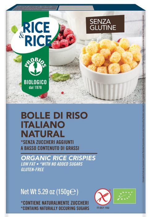 Cereale (bilute) orez (fara gluten, fara zahar) Probios BIO - 150 g imagine produs 2021 Probios