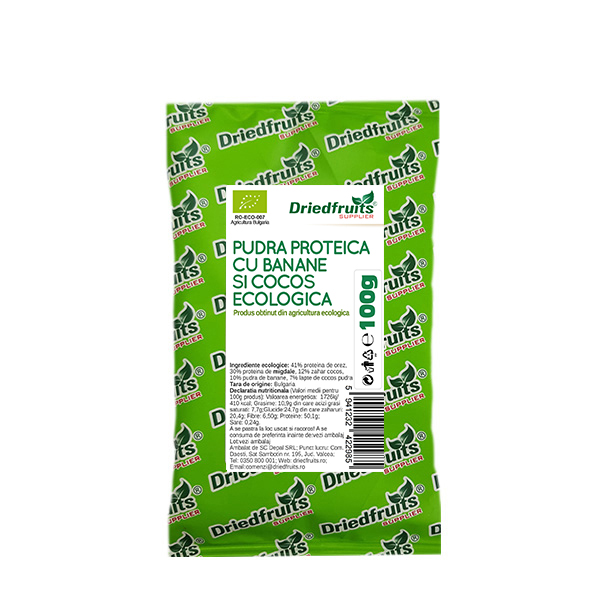 Pudra proteica cu banane si cocos BIO - 100 g imagine produs 2021 Dried Fruits