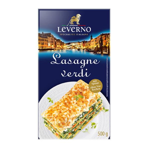 Foi pentru lasagna cu spanac (fara ou) Leverno - 500 g imagine produs 2021 Leverno