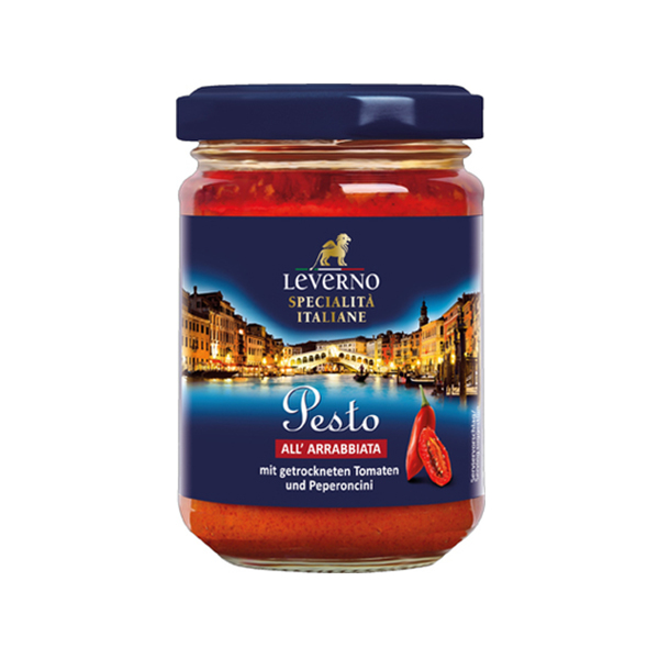 Sos pesto Arrabiata Leverno - 125 g imagine produs 2021 Leverno