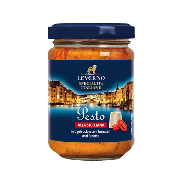 Sos pesto Siciliana Leverno - 125 g imagine produs 2021 Leverno