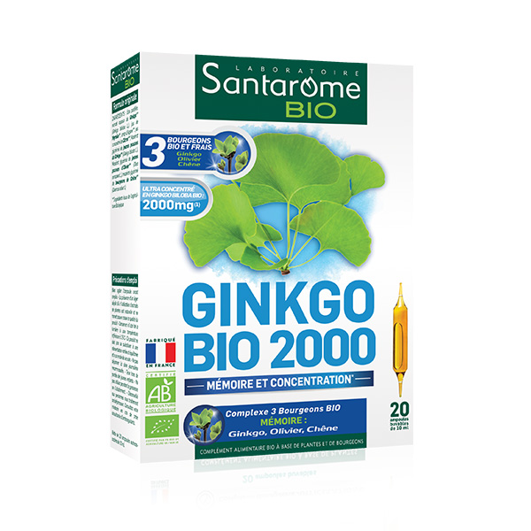 Ginkgo 2000 Santarome BIO - 20 fiole imagine produs 2021