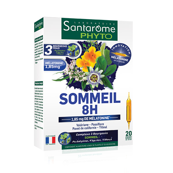 Sommeil 8H Santarome - 20 fiole imagine produs 2021 Adams Supplements