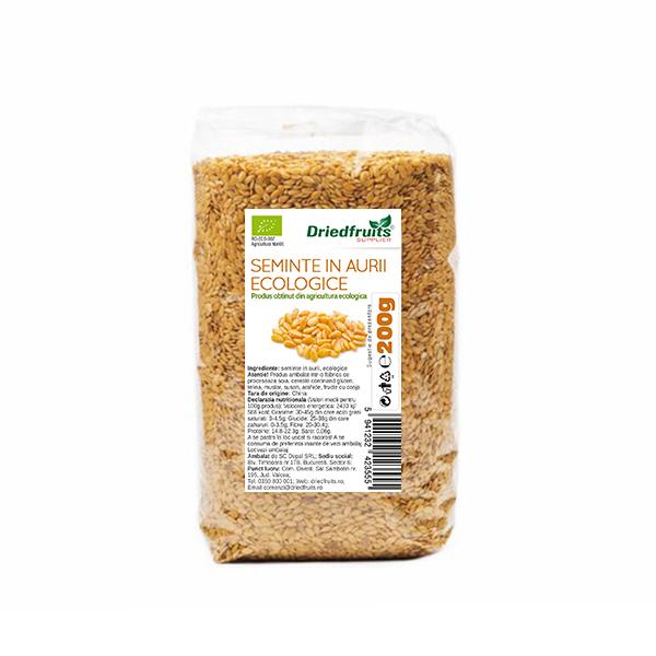 Seminte in aurii BIO - 200 g imagine produs 2021 Dried Fruits