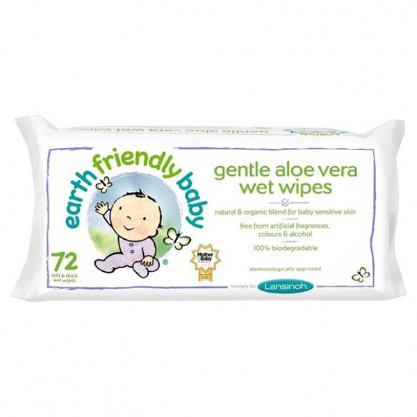 Servetele umede cu musetel si aloe vera Earth Friendly Baby - 72 bucati imagine produs 2021