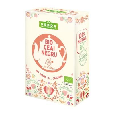 Ceai Negru (15 piramide) BIO Vedda - 33.75 g imagine produs 2021 Vedda