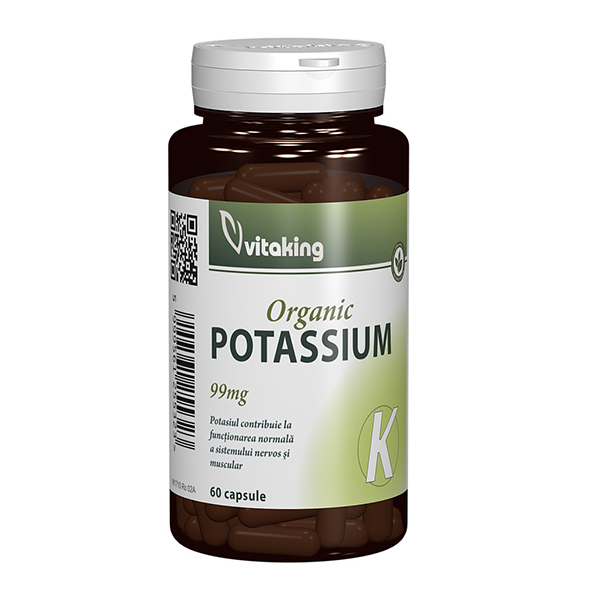 Potasiu 99 mg Vitaking - 60 capsule imagine produs 2021 Vitaking