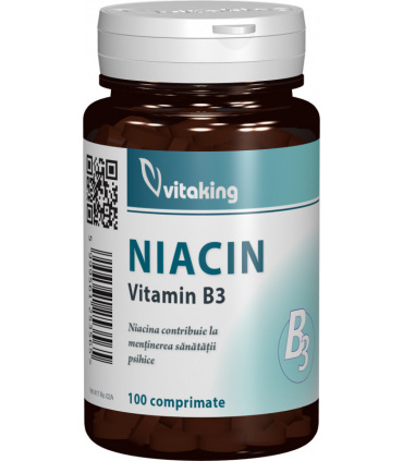 Vitamina B3 (Niacina) 100 mg Vitaking - 100 comprimate imagine produs 2021 Vitaking