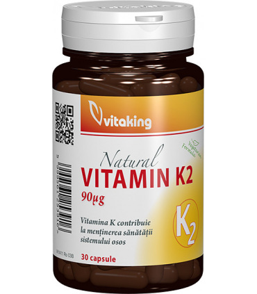 Vitamina K2 Vitaking - 30 capsule imagine produs 2021 Vitaking