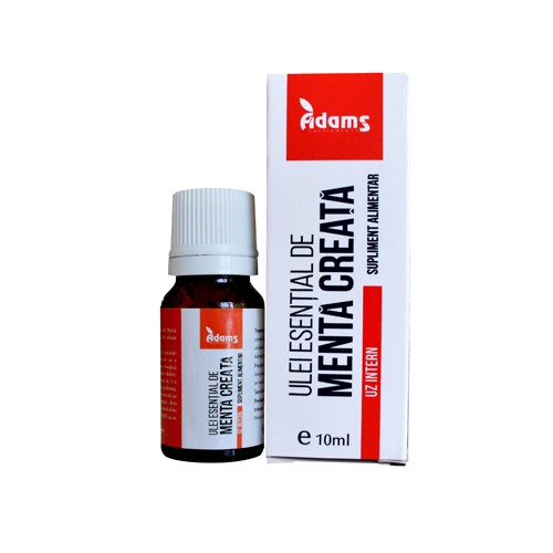 Ulei esential de menta creata (uz intern) Adams - 10 ml imagine produs 2021 Adams Supplements