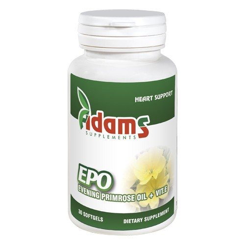 EPO (Evening primrose) 1000mg Adams Supplements - 30 capsule imagine produs 2021 Adams Supplements
