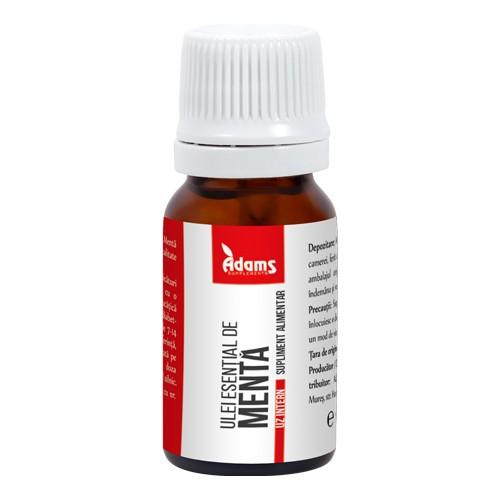 Ulei esential de menta (uz intern) Adams - 10 ml imagine produs 2021 Adams Supplements