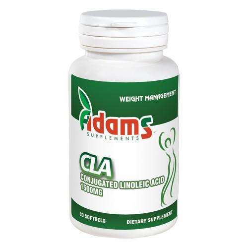 CLA 1500mg Adams Supplements - 30 capsule imagine produs 2021 Adams Supplements