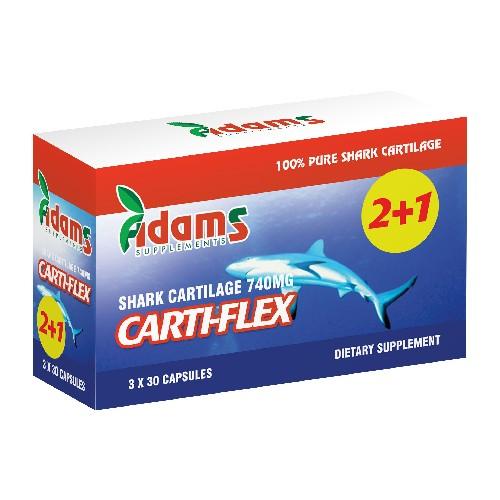 Carti-Flex: Cartilaj de rechin 740mg Adams Supplements (Pachet 2+1 gratis) - 3 x 30 capsule imagine produs 2021 Adams Supplements