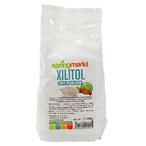 Xylitol (din porumb) Springmarkt - 500 g imagine produs 2021 Springmarkt