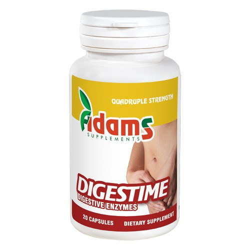 Digestime - Enzime digestive Adams Supplements - 20 capsule imagine produs 2021 Adams Supplements