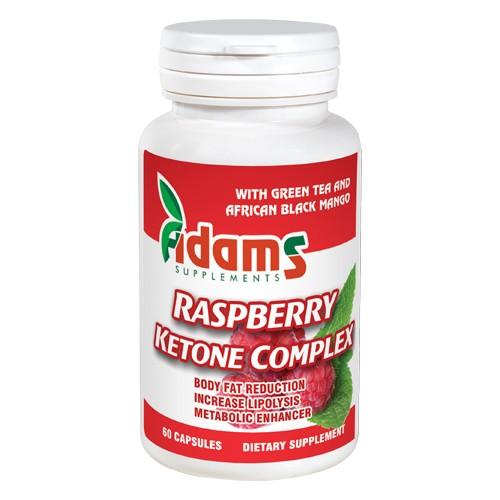 Raspberry Ketone Complex (Cetona de Zmeura) Adams Supplements - 60 Capsule imagine produs 2021 Adams Supplements