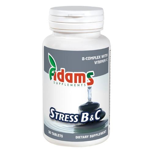 Stress B&C Adams Supplements - 30 capsule imagine produs 2021 Adams Supplements