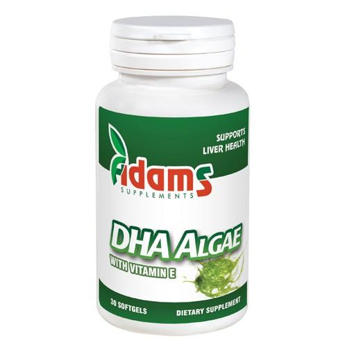 DHA Algae 200mg Adams Supplements - 30 capsule imagine produs 2021 Adams Supplements