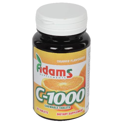 C-1000 cu aroma de portocale Adams Supplements - 30 tablete masticabile imagine produs 2021 Adams Supplements